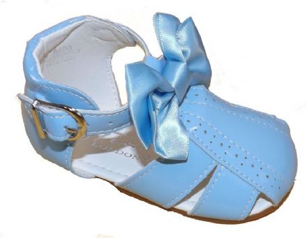 Sky Blue Sandals with Bow